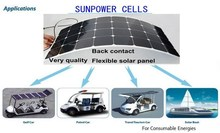 Solarparts 4 100W PV flexible solar panel solar module green energy fishing boats fence camara for