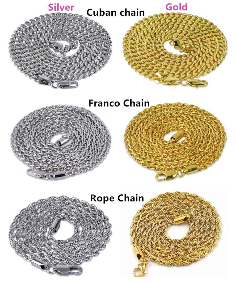 Three Types Chains, Rope Chain ,Cuban Chain ,Franco Chain For Wholesale