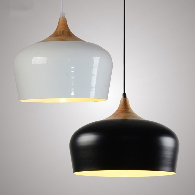 D35cm Nonla Modern dinging room kitchen bedroom restaurant painted white black Aluminium pendant light lamp Nordic Hanging light nordic iron pendant lights lamps d35cm metal hanging light dining room kitchen home house light white black suspension lamp