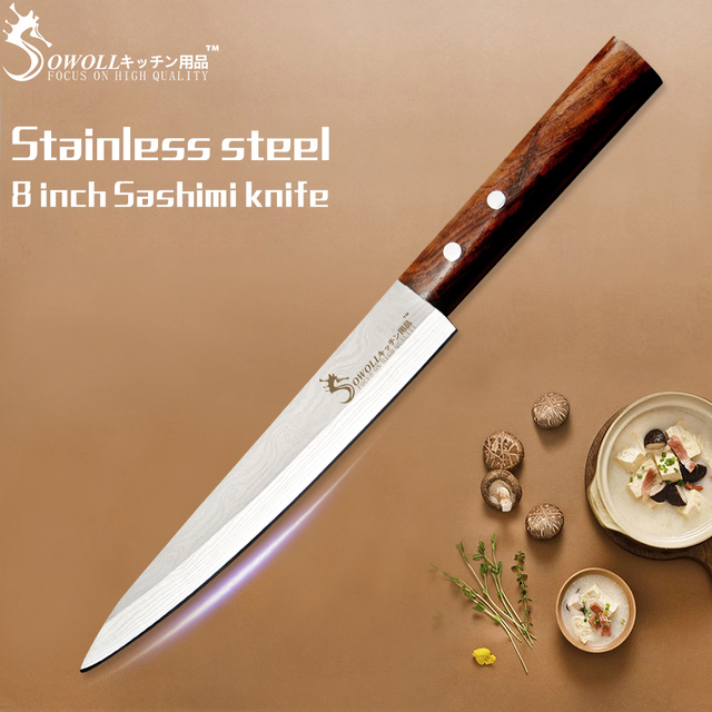 Japanese Salmon Sushi Knives Stainless Steel
