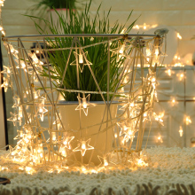8M 50LED Lichtslingers Star Fairy Light For Wedding Party window Garden Christmas Holiday Garland Decoration Buitenverlichting