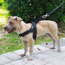 Поводок для собак, легко надевается и снимается, регулируемый, средний, большой, для собак, светоотражающий, не тянет, тренировочный жилет для домашних собак, прогулочный жилет