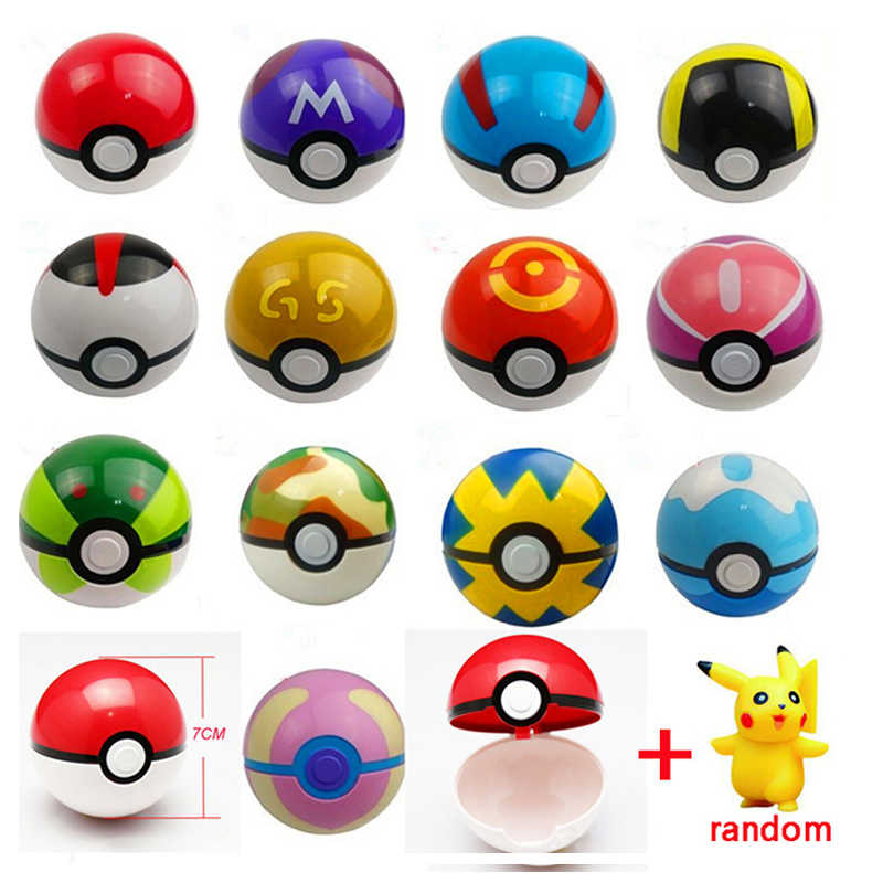 Pokeball + 1 free Random Toy Action Figure Pikachu Toy Doll