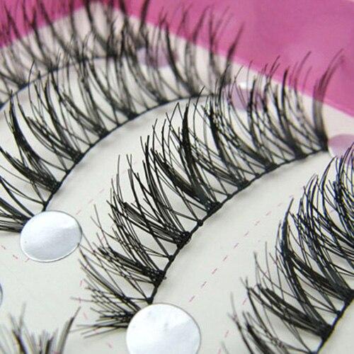 2016 10 Pairs Natural <font><b>Jumble</b></font> Long False Eyelashes Party Wedding Makeup Eye Lashes