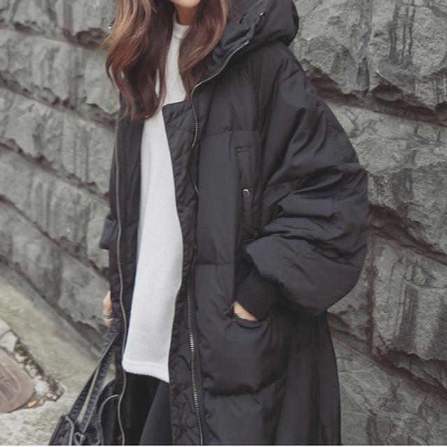 2016 Más El Tamaño de Corea de La Manera Outwear Gruesa Parka Caliente Abrigo de Gran Tamaño de Down Con Capucha Abrigo de Invierno de Las Mujeres