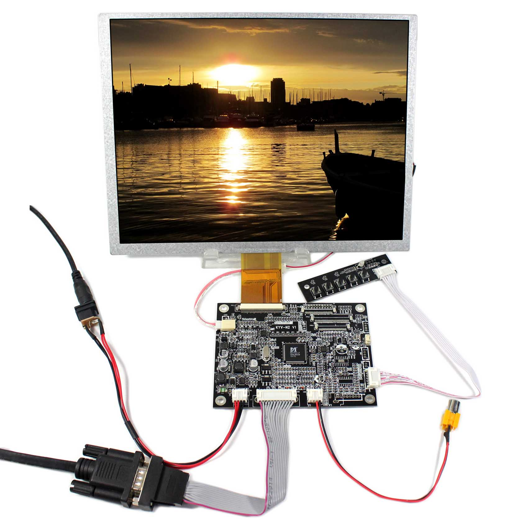 10.4inch 800x600 LSA40AT9001 LCD Replace A104SN03+VGA AV LCD Controller Board KYV-N2 V1 hdmi vga av audio lcd controller board kyv n3 v1 10 4inch lsa40at9001 800x600 lcd panel
