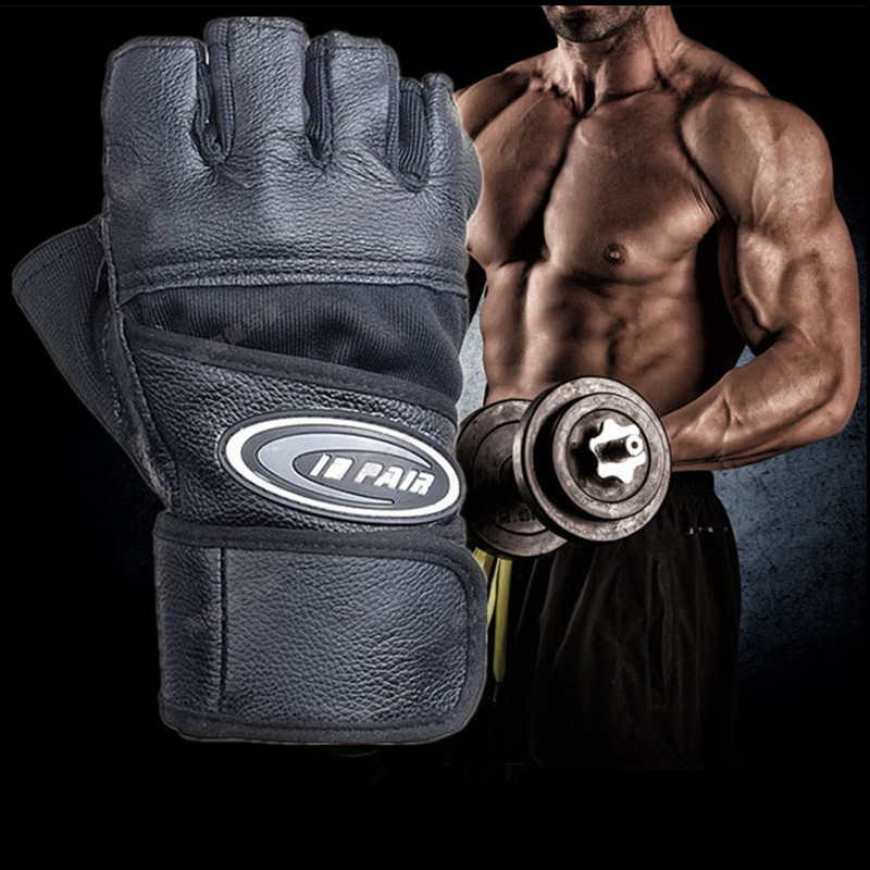 Reebok Strength Training Gloves Weight Lifting Fitness: Men Gym Body Building Weight Lifting Leather Fitness