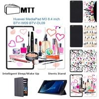 MTT Slim Popular Makeup Gouache PU Case For Huawei MediaPad M3 BTV W09 DL09 8 4