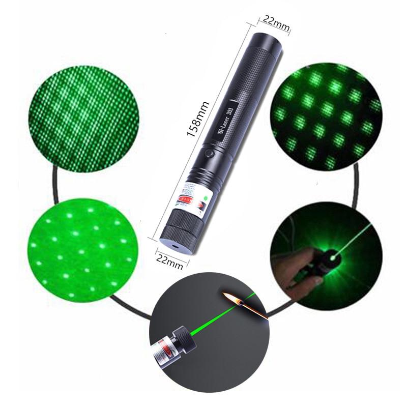 8000-10000M Potente puntero láser verde 5mw Militar 532 nm Red Lazer - Caza - foto 2
