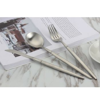 New  Brief 4pcsset European Dinner Set Dinnerware Set Kitchen Knife Western Food Stainless Steel Cutlery 304  Kitchen Supplies