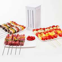 Portable 16 Hole Meat BBQ Barbecue Skewers Machine Kabob Maker Box Multi-purpose Meat Grinders BBQ Grill Tool Gadget Accessories стоимость