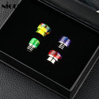 Nigel 4 In 1 Set 510 810 Drip Tip Resin Mouthpieces For E Cigs RDA Vape Tank Electronic Cigarettes