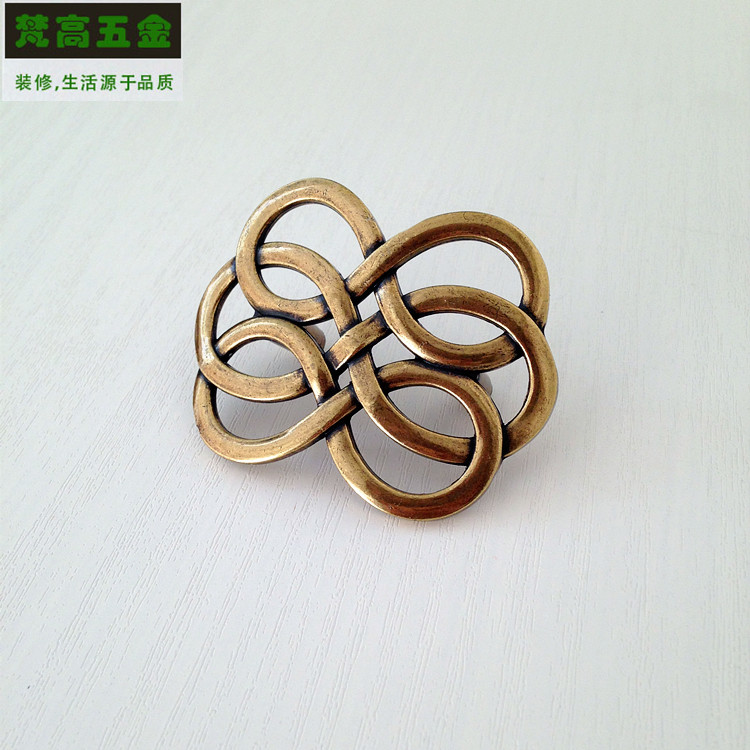 Bronze Cabinet Knobs and Handles Drawer Handle Antique Dresser Knobs Hollow Twist Furniture Handles and Pens Door Pull furniture drawer handles wardrobe door handle and knobs cabinet kitchen hardware pull gold silver long hole spacing c c 96 224mm