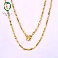 CAIMAO 24 K чистого 999 Золото оригинальные женские цепи блестящие тонкой Обручение красивый подарок Модная классика Вечерние