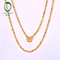 CAIMAO 24K Pure 999 Gold Genuine Womens Chain Sparkly Fine Engagement Beautiful Gift Trendy Classic Party