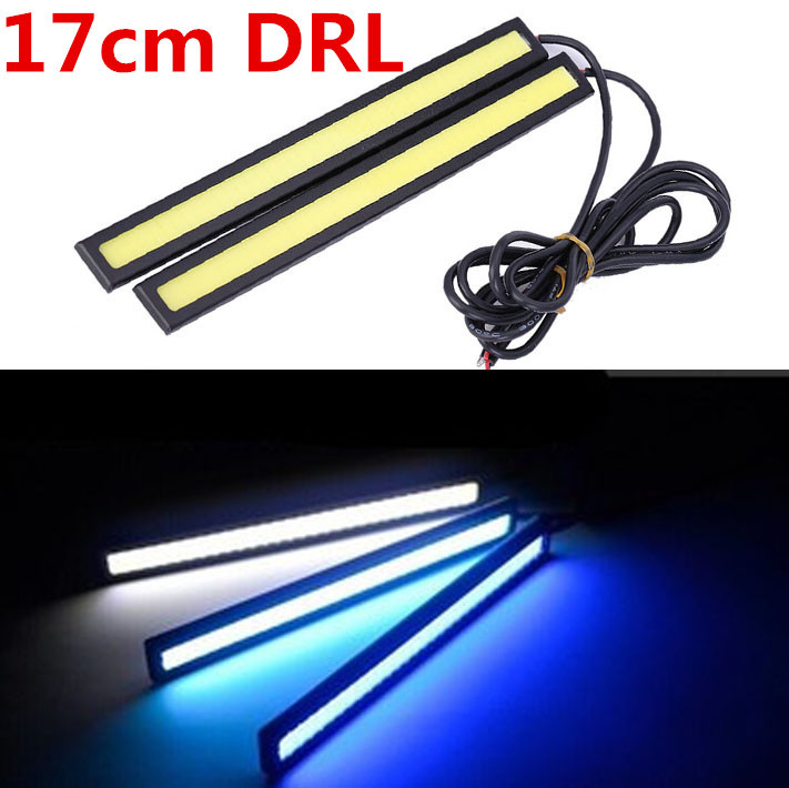 Urbanroad 1pair 17cm 12V Ultra-thin COB LED Car Auto led drl Daytime Running Lights Car Styling