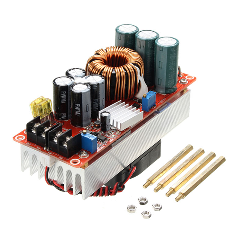 New Arrival 1PC 1500W 30A DC-DC high current DC constant current power supply module electric booster Module Board 130x52x84mmNew Arrival 1PC 1500W 30A DC-DC high current DC constant current power supply module electric booster Module Board 130x52x84mm