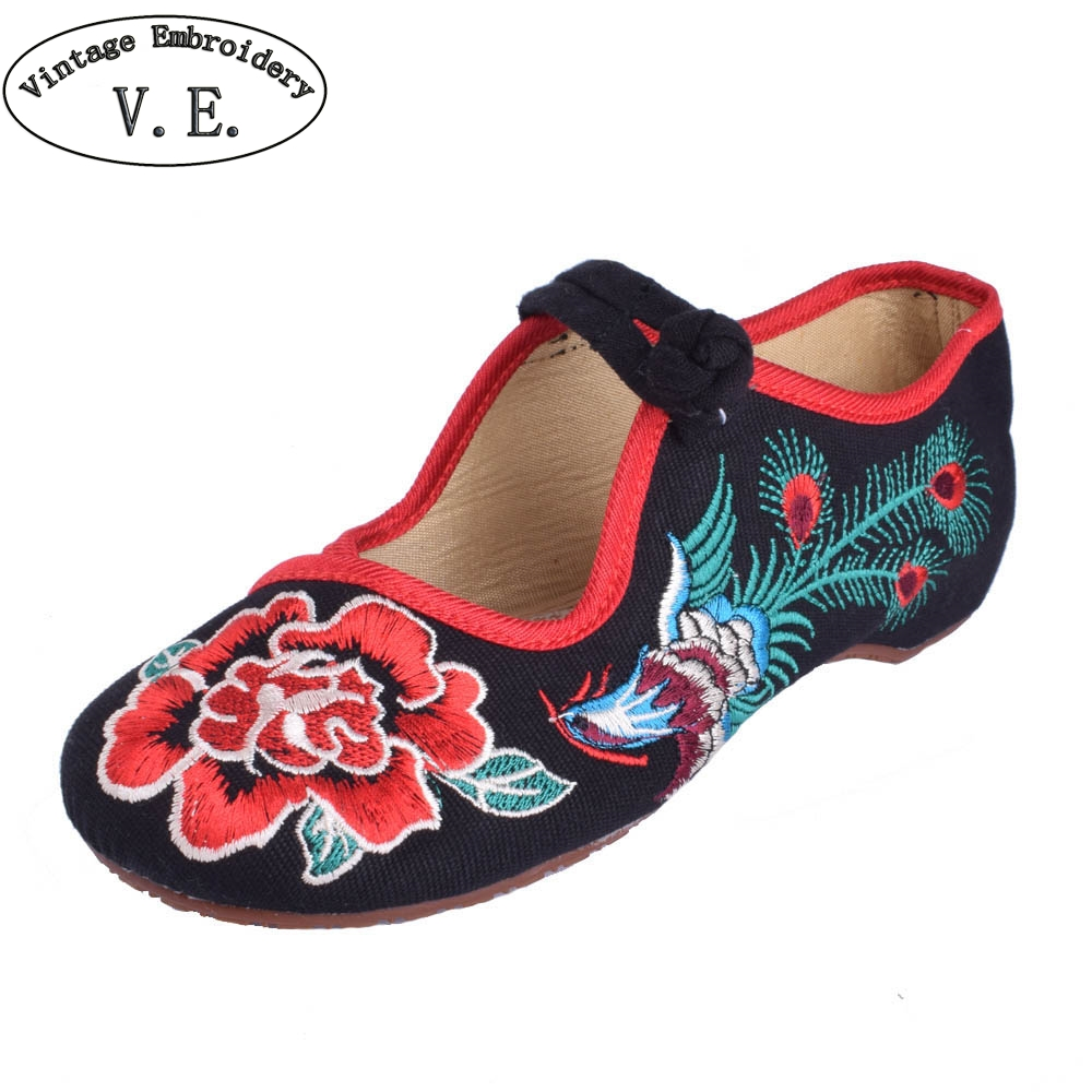 29 Style New Old Peking Women's Shoes Chinese Flat Heel With Flower Embroidery Comfortable Soft Canvas Shoes Plus size 41 mix style women s shoes old peking mary jane flat heel denim flats with embroidery soft sole casual shoes size 34 41
