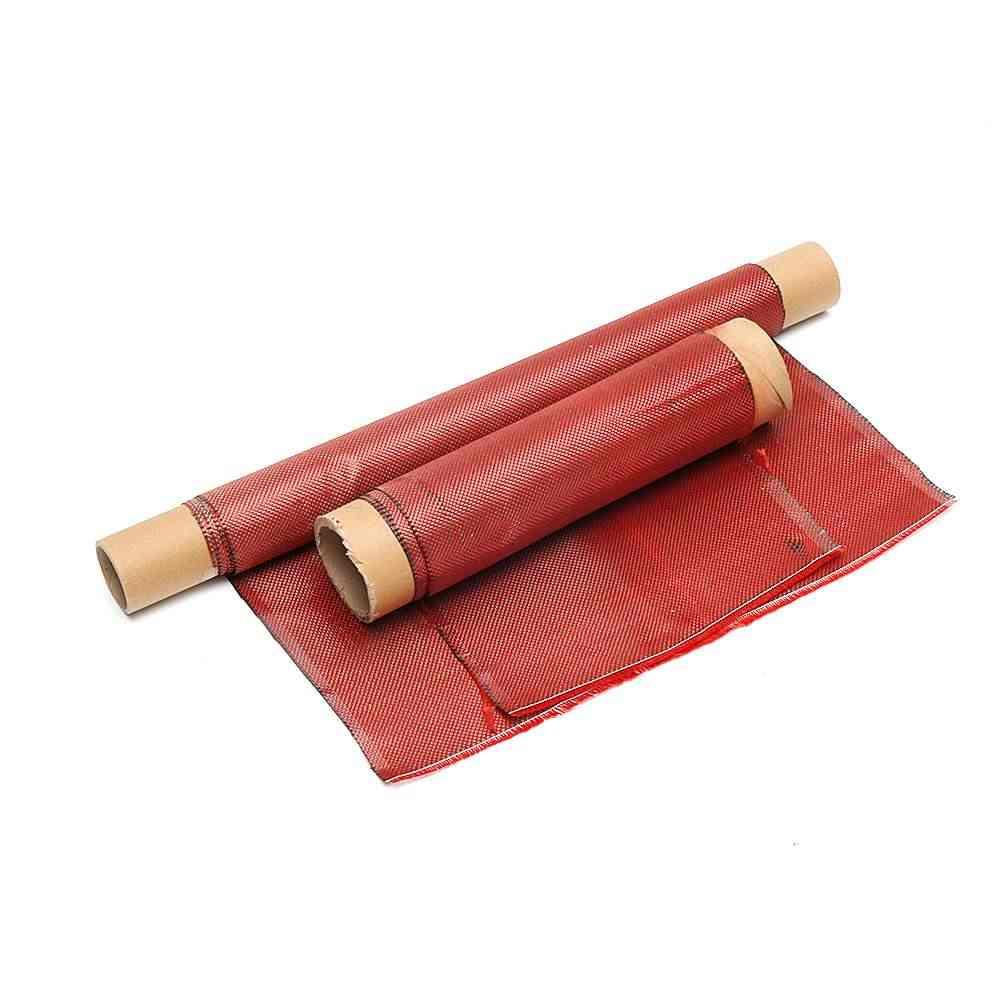 Новинка; 1 м красный труба из углеродистого волокна 3K 100% настоящий углеродный волоконный тканый углеродного волокна смесовой ткани 30/50/60/100 см в ширину твил ткань углерода арамидного волокна 200g/m2