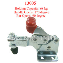 5PCS Vertical Type Toggle Clamp 13005 Holding Capacity 68KG 150LBS Flange Base