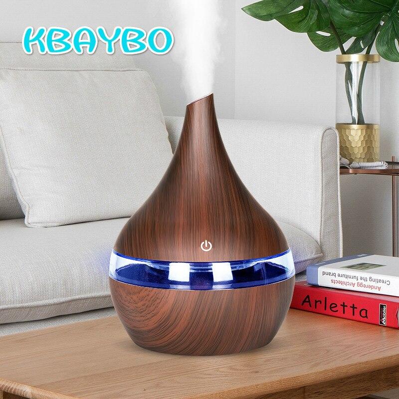 KBAYBO 300 ml USB Elektrische Aroma air diffusor holz ultraschall-luftbefeuchter Ätherisches öl Aromatherapie kühlen nebel-hersteller für home