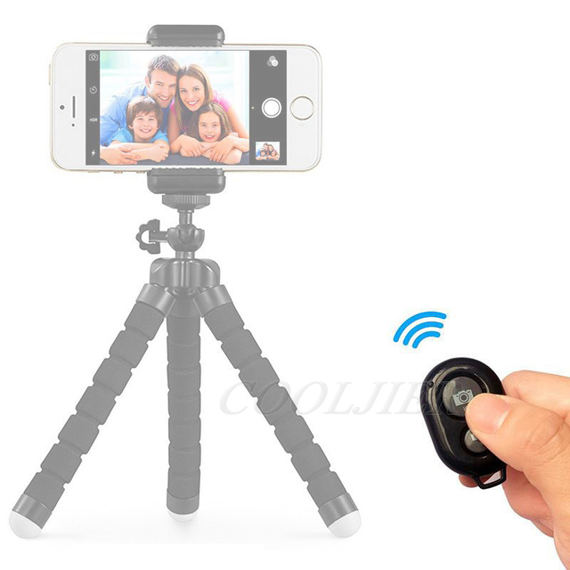 COOLJIER Shutter Release button controller adapter photograph control bluetooth remote button For selfie phone camera 1