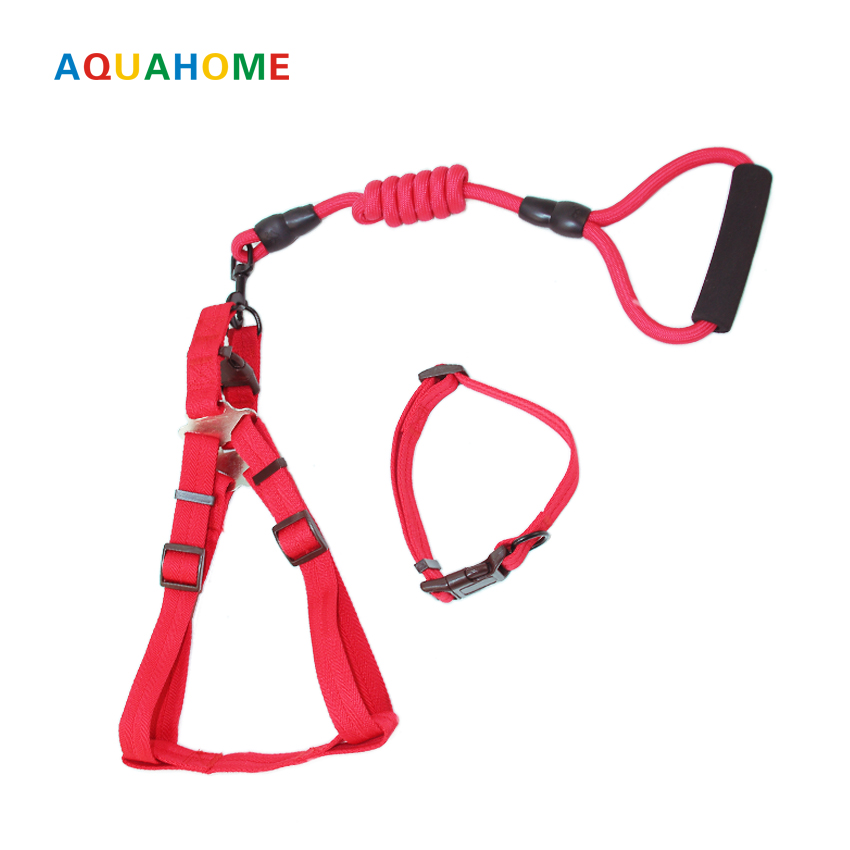 2017 Petcircle Sale Pet Dog Leash Dog Collar Dog Collar for Small and Large Dogs 6 color Leashes Traction Collar Rope Set For
