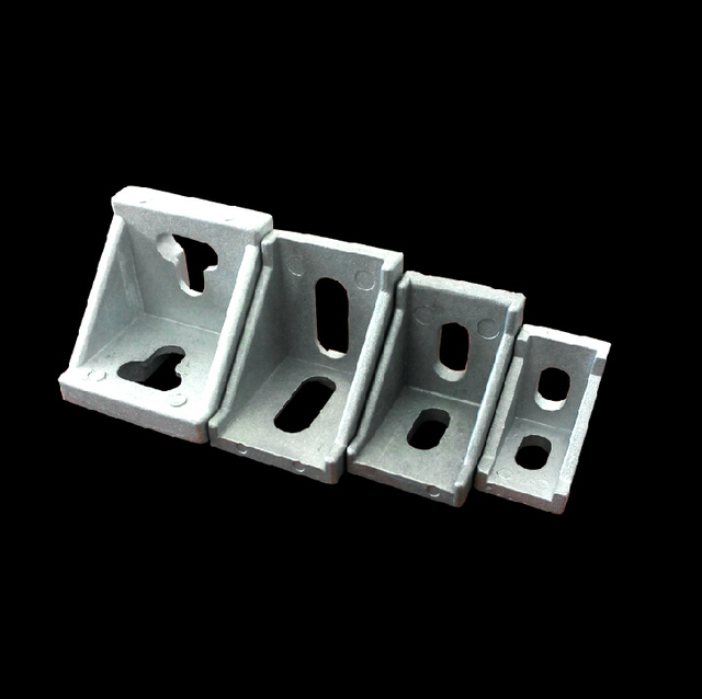 50pcs/lot 20 Series Slot6 Corner Angle L Brackets Connector Fastener For 2020 Aluminum Profile Accessories