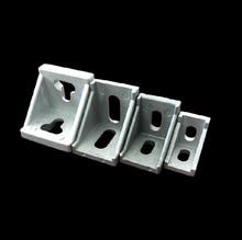 50pcs/lot 20 Series Slot6 Corner Angle L Brackets Connector Fastener For 2020 Aluminum Profile Accessories
