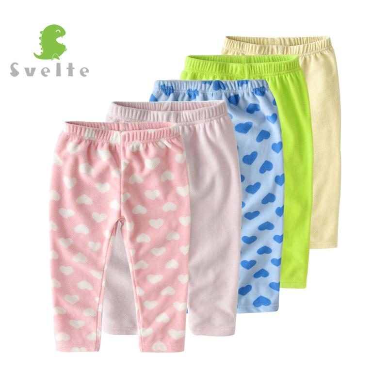 SVELTE 2-7Y Otroške deklice Harem Casual Soft Fleece Hlače hlače - Otroška oblačila