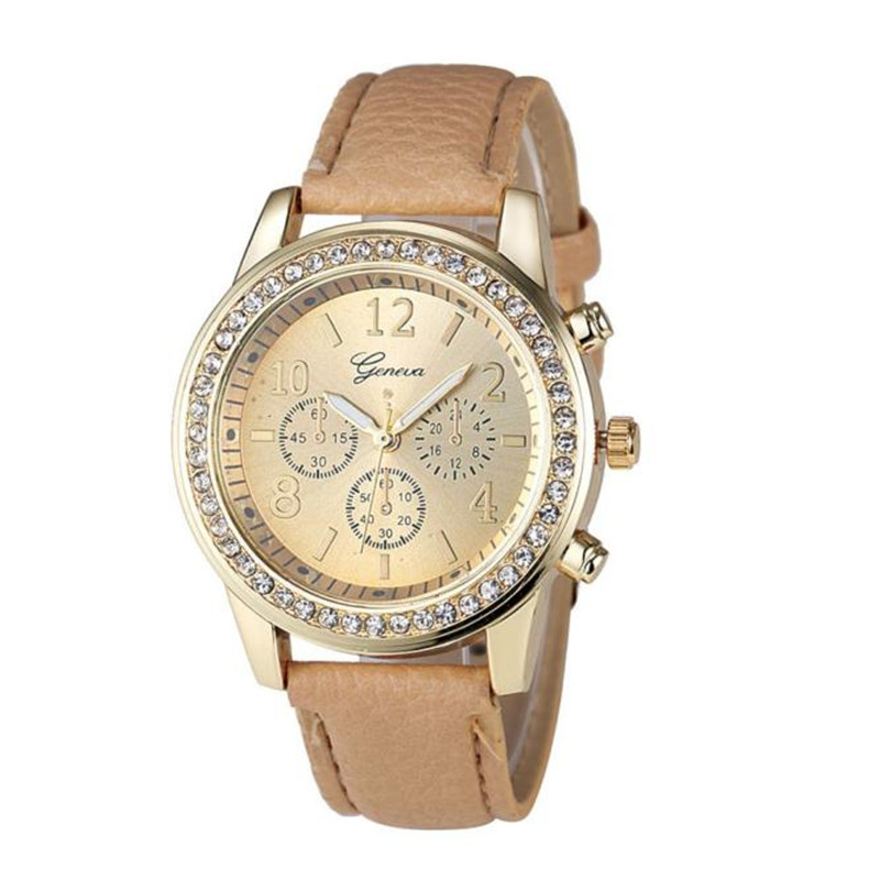 2018 New Arrival Faux Chronograph Quartz Classic Round Ladies Watch Women Crystals Wristwatches Relojes Mujer #10
