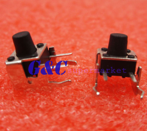 50Pcs  6x6x7mm Right Angle 2 Pin Momentary Tactile Tact Push Button Switch