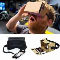 Diy ultra clear google caixa de papelão vr 2.0 de realidade virtual óculos 3d para iphone smartphone xiaomi mi computer gafas vr fone de ouvido