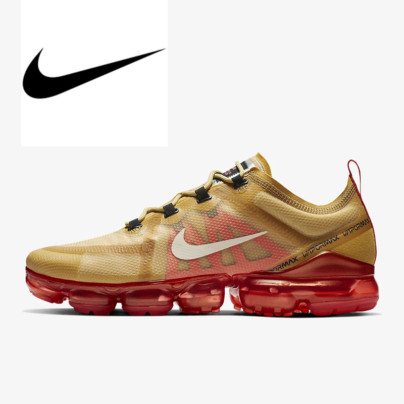 Original Authentic NIKE Air VaporMax 2019 Mens Running Shoes Breathable Outdoor Sneakers Athletic Designer Shoes AR6631 701