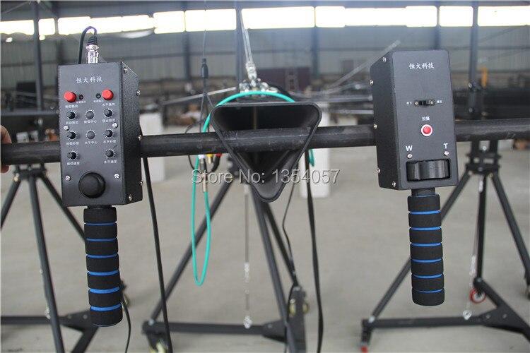 Jimmy jib crane 6 m 2 axes motorisé néerlandais tête caméra vidéo avec dolly, moniteur, télécommande approvisionnement d'usine - 4