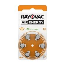 60 قطع Rayovac الهواء الطاقة الزنك الهواء السمع بطاريات A13 13A 13 P13 PR48 شحن مجاني 60 قطعة بطارية سماعة للصم
