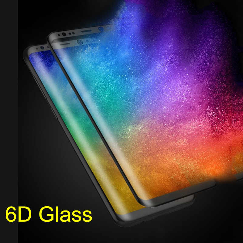 6D كامل منحني الزجاج المقسى لسامسونج غالاكسي S8 s9 plus واقي للشاشة لسامسونج نوت 8 زجاج واقي للشاشة