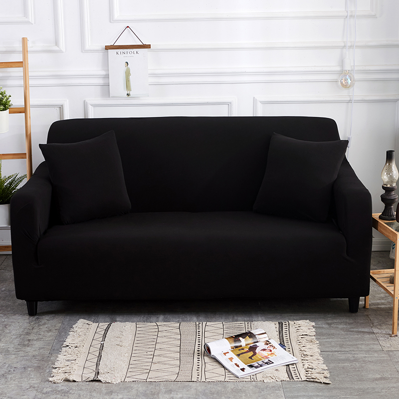 Black Elastic Polyester Sofa Cover Sofa Slipcovers Cheap Sofa Covers ...