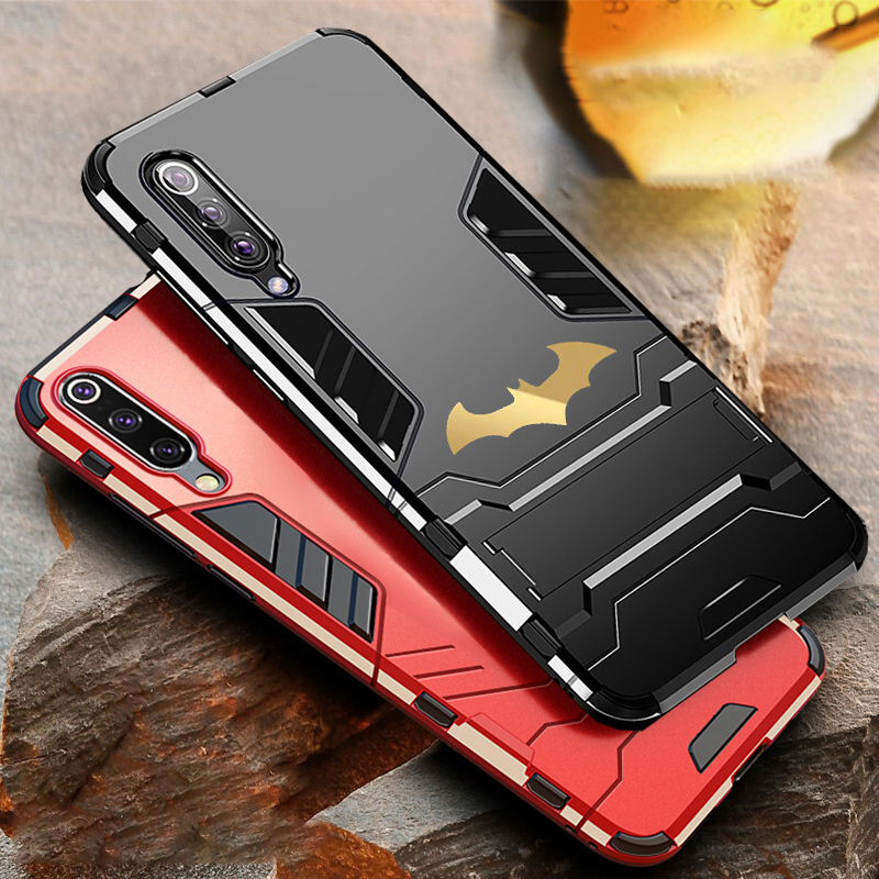 Bat Kickstand Case For Samsung Galaxy S9 S10 Plus S10e Note 9 Samsung A70 A50 A30 M30 M20 Shockproof Armor TPU + PC Tough Cover