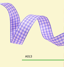 7/8″ Inch 22mm purple tartan ribbon
