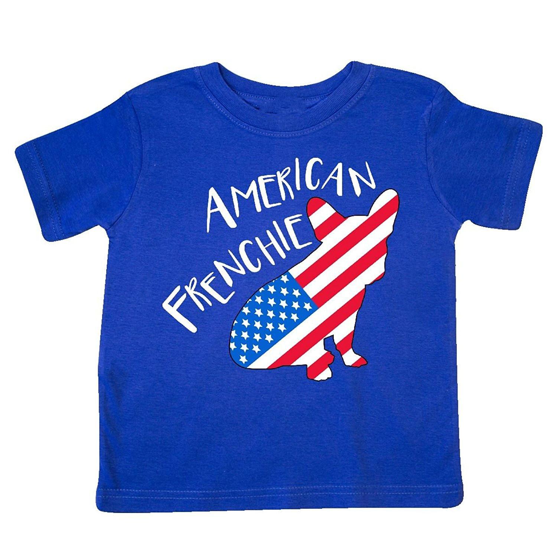 Возьмите inktastic-американский frenchie Французский бульдог флаг силуэт Футболка для детей ясельного возраста