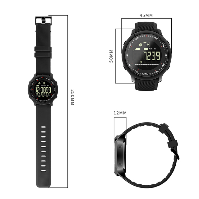Bluetooth Waterproof IP68 Support Call And SMS reminder Men Sport Smart Watch 5