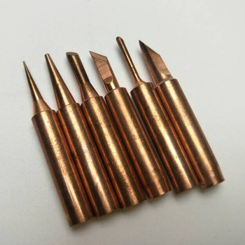 5Pcs Copper Soldering Tips Lead-free Welding Head Rework Station 900M-T Electric Solder Iron Tips Repair Tools Set 1pcs solder iron tips t12 series t12 ils dl52 i il j02 jl02 js02 soldering iron tips welding tip soldering welding stings