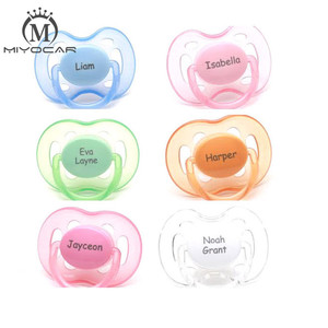Image 4 - MIYOCAR personalized any name can make 2 pcs pacifier dummy unique gift to baby custom pacifier