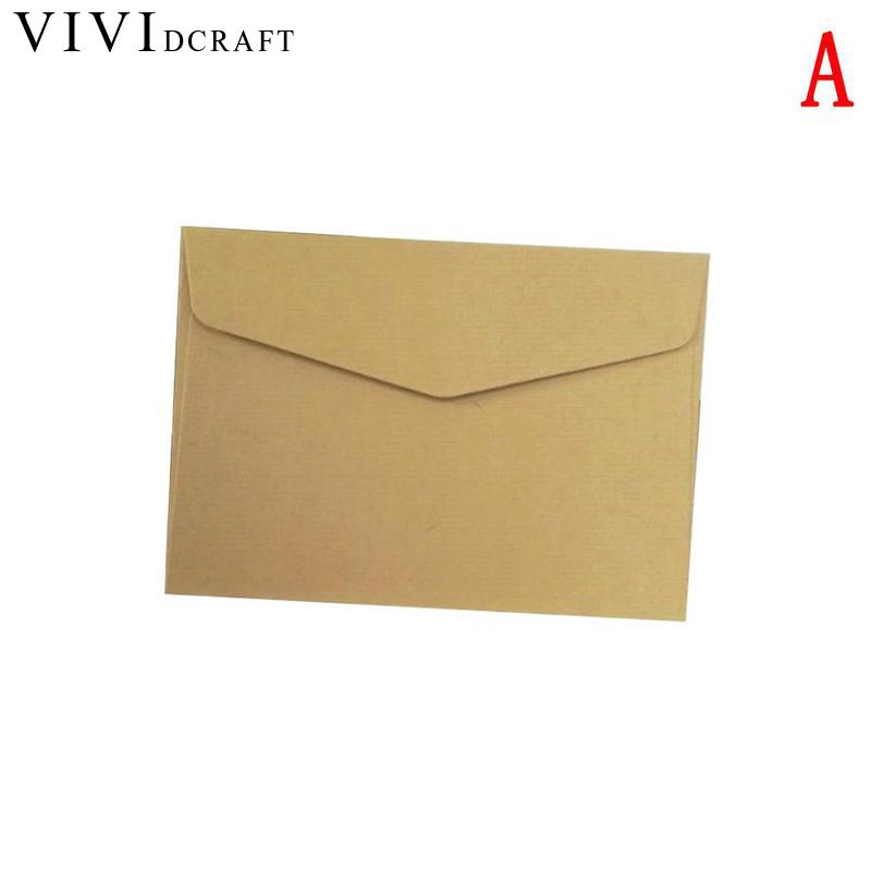 Vividcraft 10 Pcs/lot Kawaii  Cute Mini Envelopes Candy Color Paper Envelope Vintage European Style For Card Scrapbooking Gift