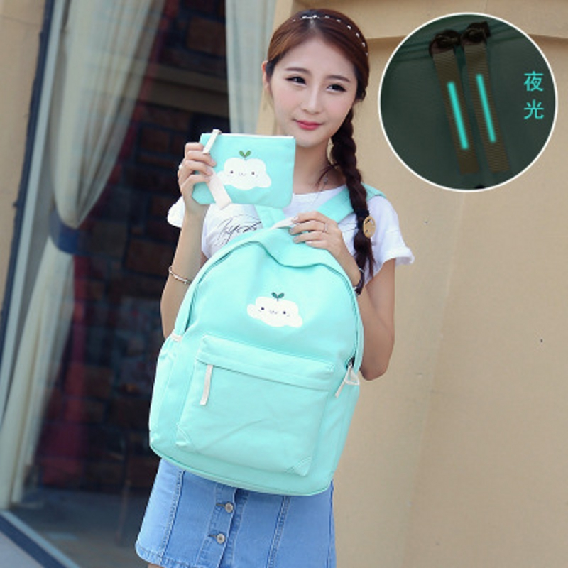 Dower Me Aa12-14 New New Retro Tide Girls Canvas Backpack Fashion Wild Tide Traveling Bag