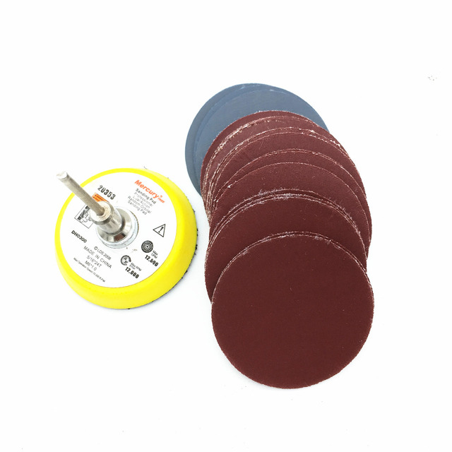 30pcs 50mm Sander Disc Sanding Disk Grit 800 3000 Paper With 1pcs 2 Inch Abrasive Polish Pad Plate For Dremel Electric Grinder