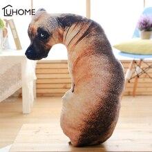 3D Vivid Simulation Dog Pillow Full Body Dog Shape Funny Animal Tiger Wolf Office Car Cushion Sofa Throw Pillow Decoration Gifts