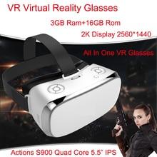 3GB Ram VR All In One Glasses Virtual Reality Glasses V3H 2K Display S900 Quad Core 1.7GHz 5.5 inch 16GB Rom Wifi 3D VR Glasses