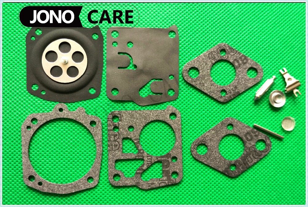 RK-23HS RK-27HS Carburetor Overhaul Repair Kit for Husqvarna Tillotson Carb.272 268 61 HS 232 236 239 262 Chainsaw Trimmer Parts chainsaw clutch drum rim sprocket 3 8 7t needle bearing kit for husqvarna 61 66 162 266 268 272 jonsered 625 630